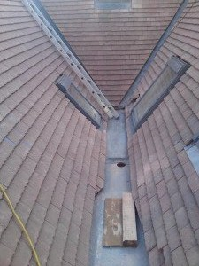 lead gully, valleys, velux's and chimney leadwork.